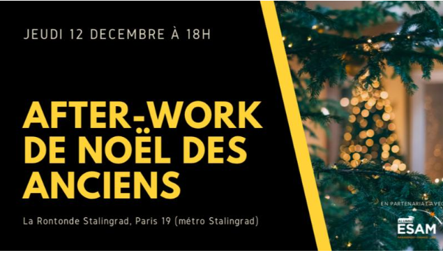 After Work de Noël le jeudi 12 décembre 2019.